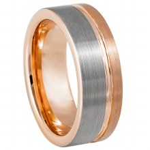 Rose Gold Off Center Groove- 8
