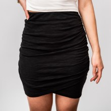 Wasabi High Waist Side Ruched Skirt