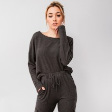 Boatneck Drop Shoulder Pullover Sweater