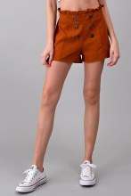 High Waisted Double Button Shorts
