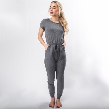 French Terry Jumpsuit W/ Keyhole Back