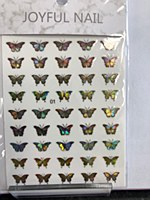 Butterfly chrome stickers 01