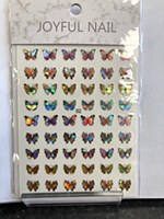 Butterfly chrome stickers 02