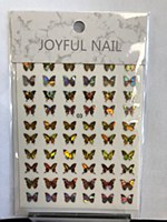 Butterfly chrome stickers 03