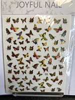 Butterfly chrome stickers 05
