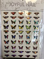 Butterfly chrome stickers 06