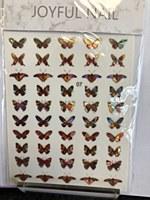 Butterfly chrome stickers 07