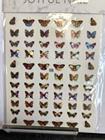 Butterfly chrome stickers 08