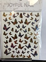 Butterfly chrome stickers 09