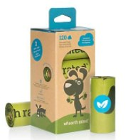 Earth Rated Poop Bags Unscented (8 Rolls / 120 Bags)