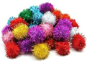 "1.5"" Glitter Pom Cat Toy"