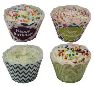 Preppy Puppy Birthday Cupcake Cookie