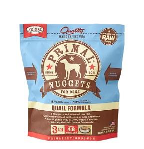 Primal 3 lb Quail Dog FROZEN