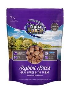 NutriSource Grain Free Rabbit Bites Treats 6oz