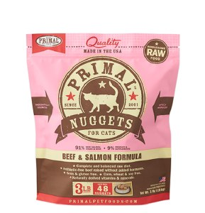 Primal 3 lb Beef and Salmon (Cat) FROZEN