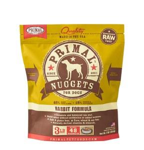 Primal 3 lb Rabbit Nuggets Dog FROZEN