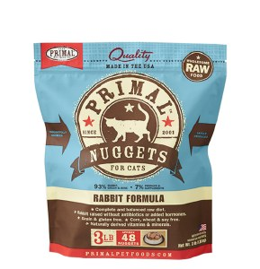Primal 3 lb Rabbit Nuggets Cat