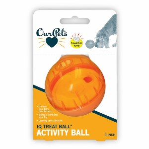 """Our Pets 3"""" IQ Treat Ball"""