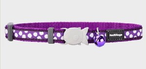 Red Dingo Purple with White Polka Dots Cat Collar