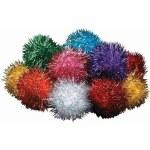 """Glitter Pom Cat Toy 2"""""""