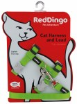 Red Dingo Lime Green Cat Harness