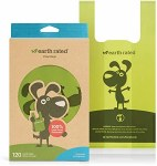 Earth Rated Poop Bags Unscented with Handle (120 Bags)