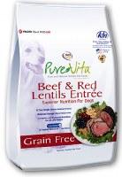 NutriSource PureVita 15lb Beef & Red Lentils Dog