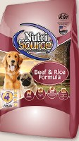 Nutrisource Beef and Rice 15#