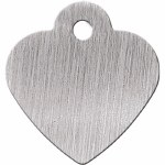 ID Tag Small Brushed Silver Heart *See details*