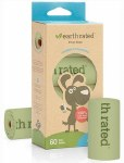 Earth Rated Poop Bags Unscented Compostable (4 Rolls / 60 Bags)