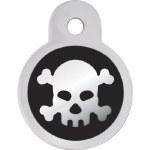 ID Tag Small Skull Circle *See Details*