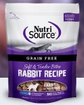NutriSource 6oz Grain Free Rabbit Bites Treat