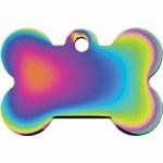 ID Tag Large Rainbow Chrome Bone *See Details*
