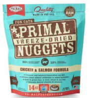 Primal Chicken Salmon Nuggets (Cat) 14oz