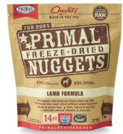 Primal Lamb Nuggets (Dog) 14oz  Freeze-Dried