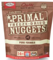 Primal Pork Nuggets (Dog) 14oz  Freeze-Dried