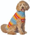 Chilly Dog Large Turquoise Serape - Wool Sweater