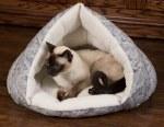K&H Self-Warming Kitty Hut - Grey