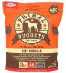 Primal Beef Nuggets (Dog) 3lbs FROZEN
