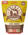 Primal Rabbit Patties (Dog) 6lbs FROZEN