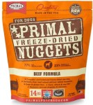 Primal 14oz Freeze Dried Beef Nuggets for Dogs