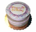 """5"""" Soft Layered Birthday Cake - Pink"""