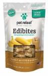 Pet Releaf CBD Hemp Oil Crunchy Edibites - Peanut Butter & Banana, Large Breed - 7.5oz