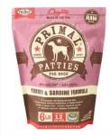 Primal Turkey and Sardine Patties (Dog) 6lbs FROZEN