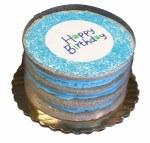 Preppy Puppy Happy Birthday Cake - Blue