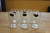 Glass tea or arak cups 6 pk