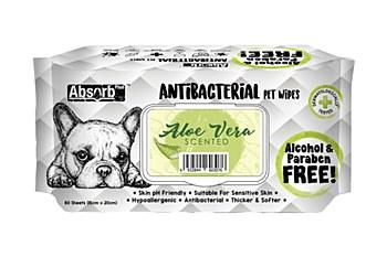 AbsorbPlus Antibacterial Aloe Vera Wipes (80 Pack)