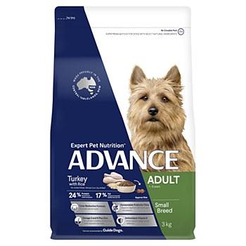 Advance Adult Small Breed Turkey 3kg Dry Dog Food