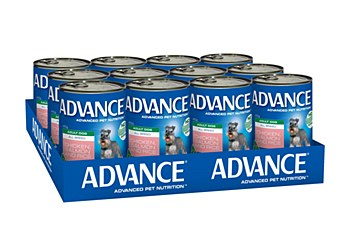 Advance Adult All Breed Chicken and Salmon 410g x 12 Wet Dog Food