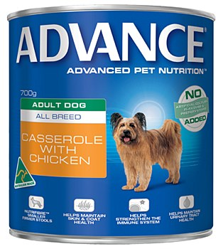 Advance Adult All Breed Chicken Casserole 700g Wet Dog Food